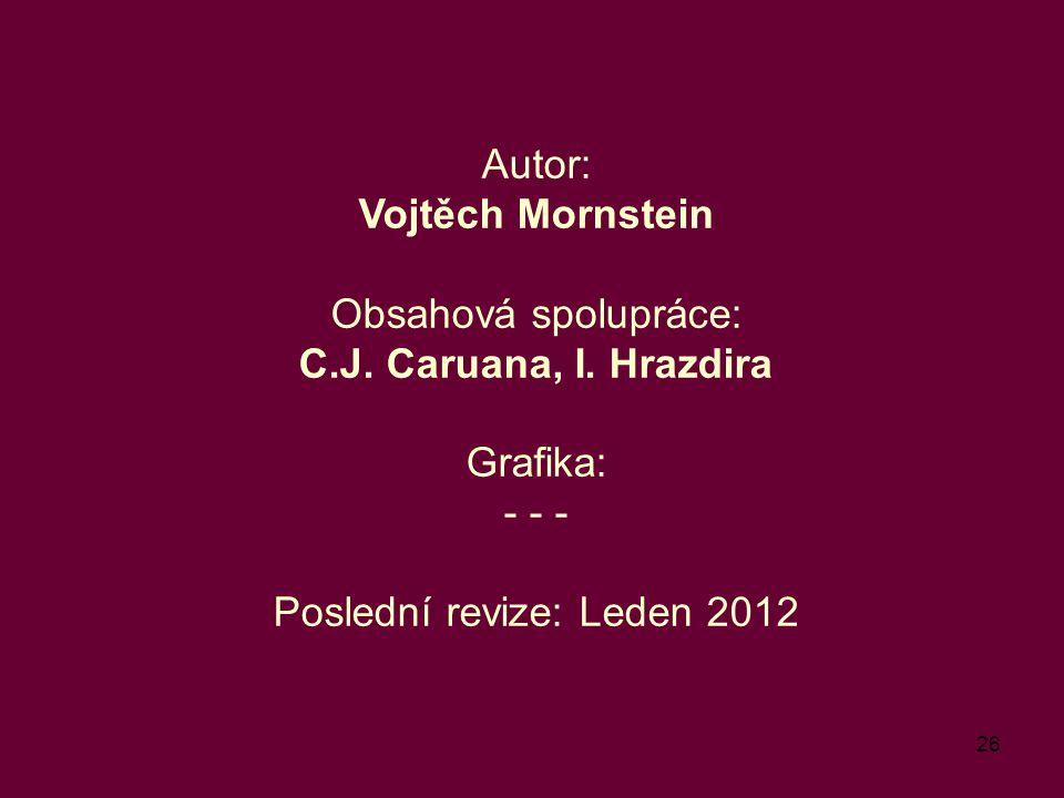 Autor: Vojtěch Mornstein Obsahová spolupráce: C. J. Caruana, I