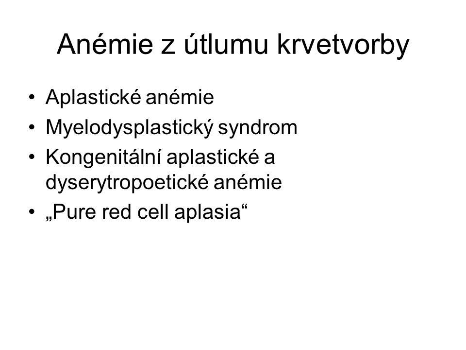 Anémie z útlumu krvetvorby