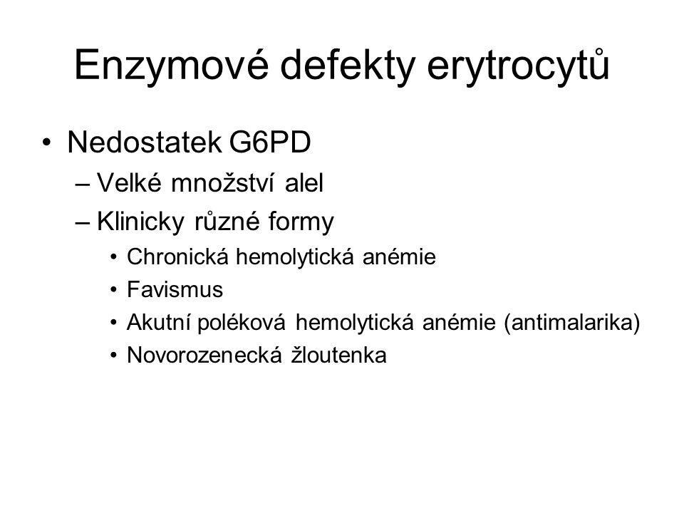Enzymové defekty erytrocytů