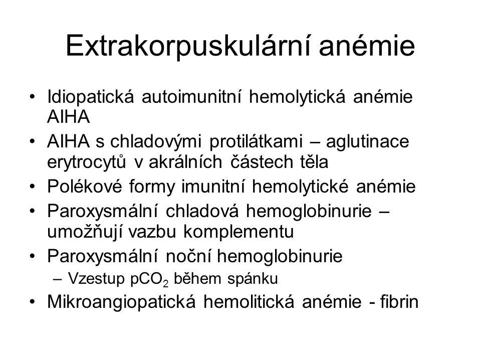 Extrakorpuskulární anémie