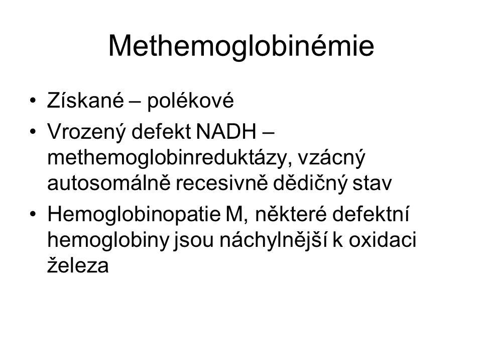 Methemoglobinémie Získané – polékové