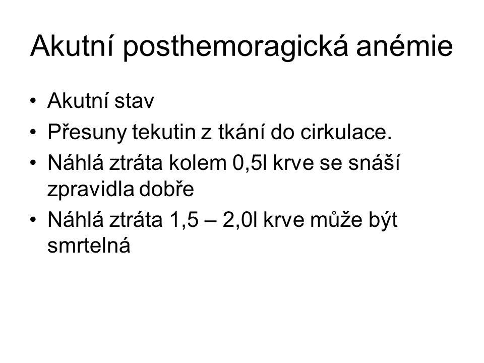 Akutní posthemoragická anémie