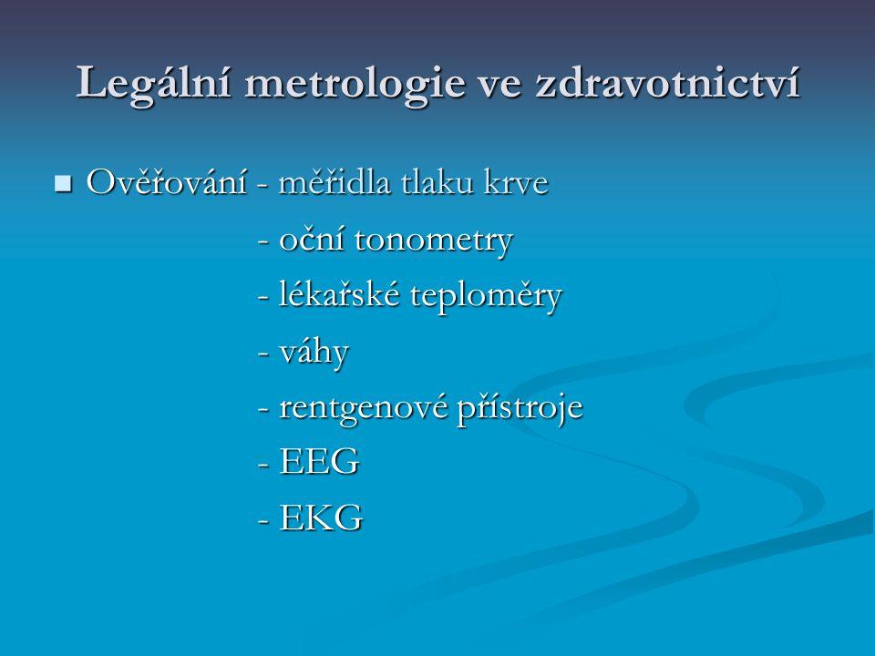 Legální metrologie ve zdravotnictví