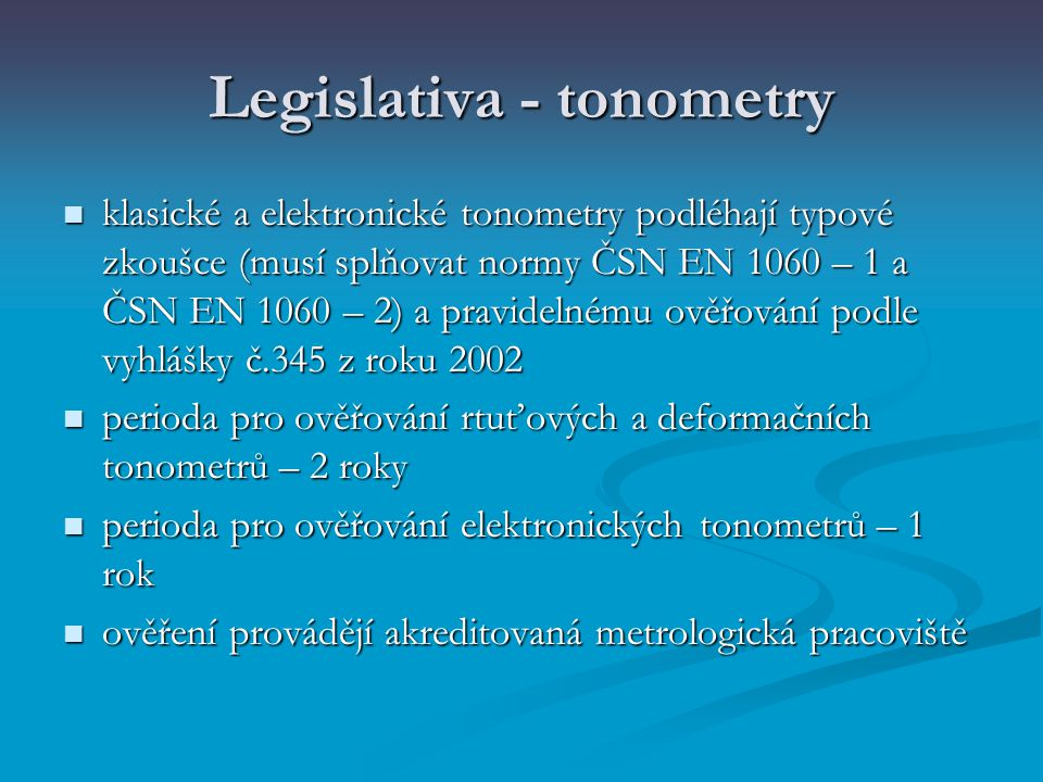 Legislativa - tonometry