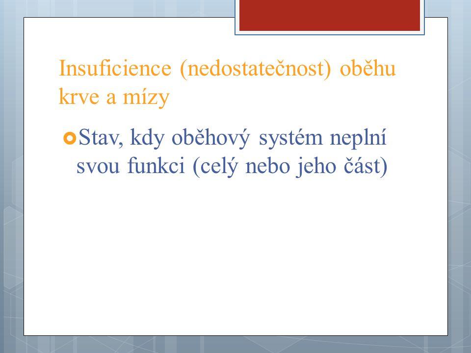 Insuficience (nedostatečnost) oběhu krve a mízy
