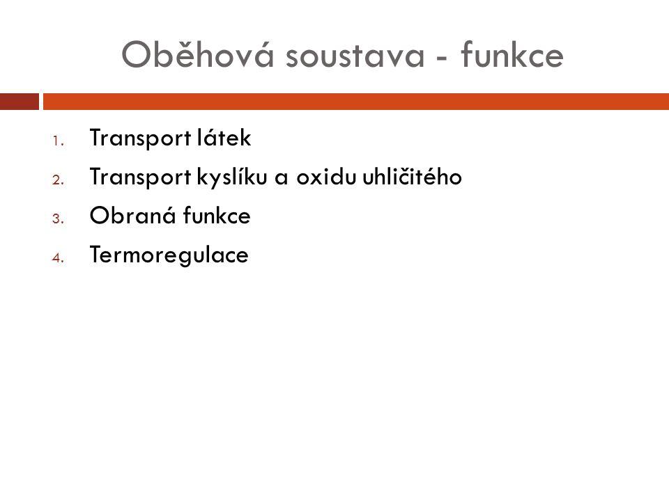 Oběhová soustava - funkce
