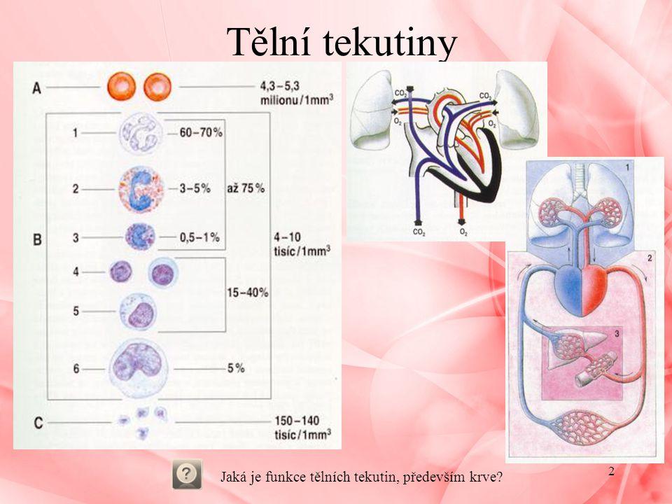 Jaká je funkce tělních tekutin, především krve