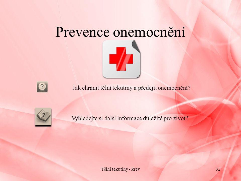 Jak chránit tělní tekutiny a předejít onemocnění