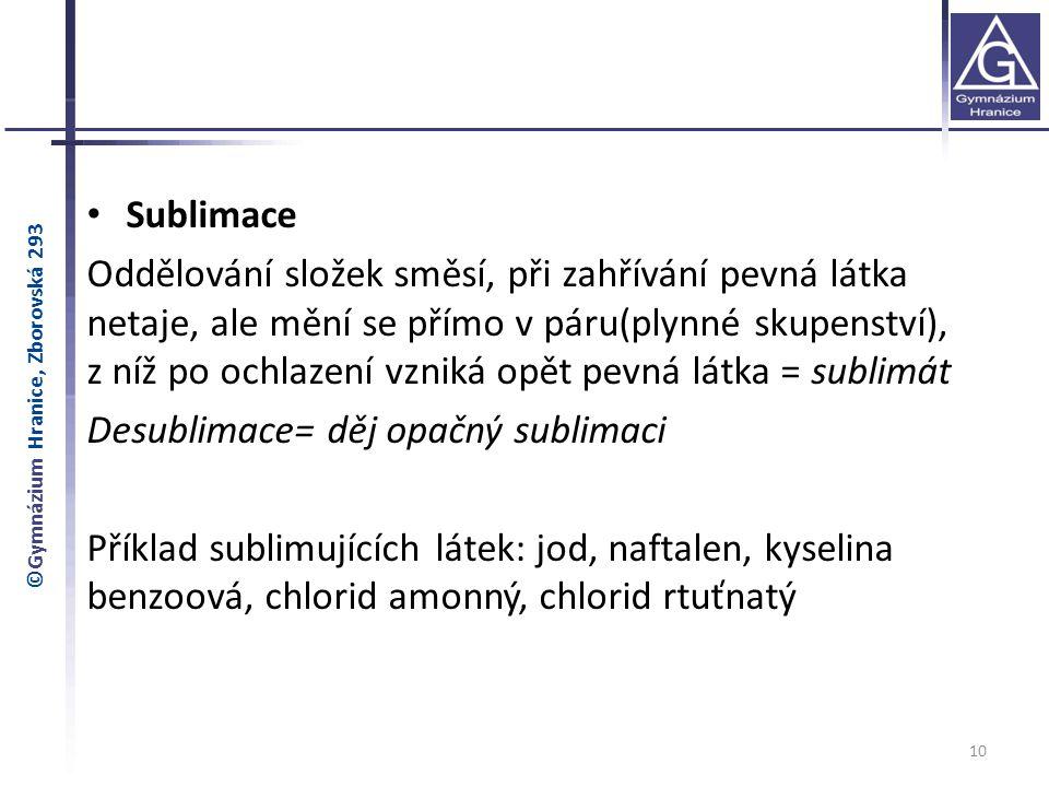 Desublimace= děj opačný sublimaci