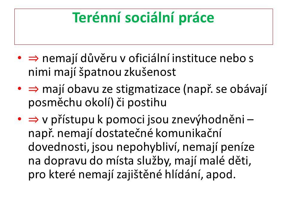 Terénní sociální práce