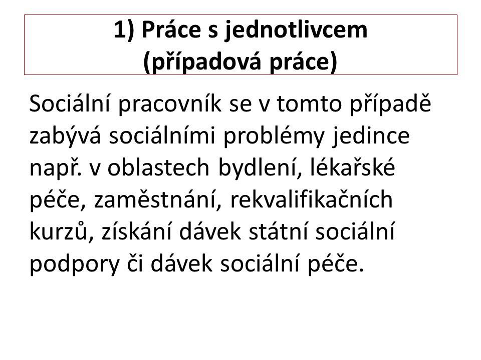 1) Práce s jednotlivcem (případová práce)