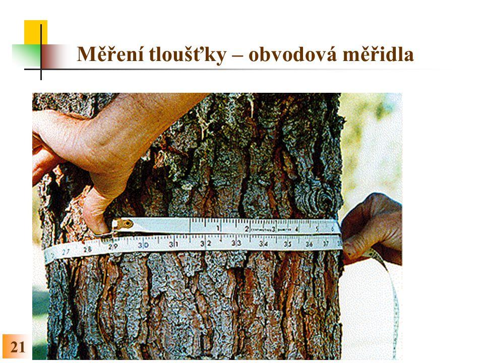 Měření tloušťky – obvodová měřidla