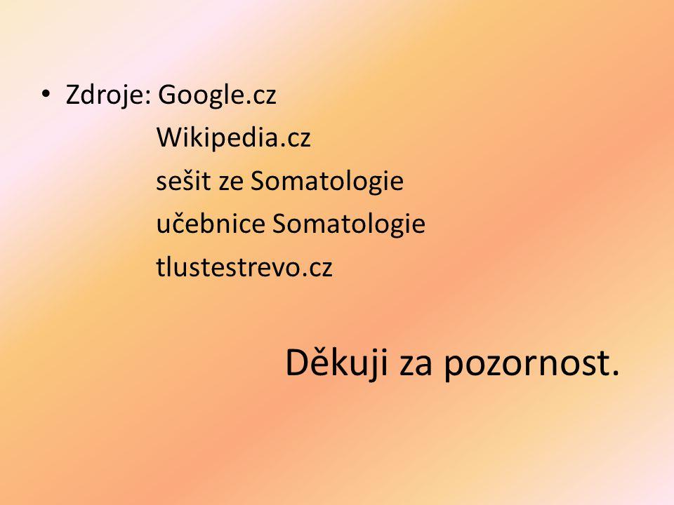 Děkuji za pozornost. Zdroje: Google.cz Wikipedia.cz