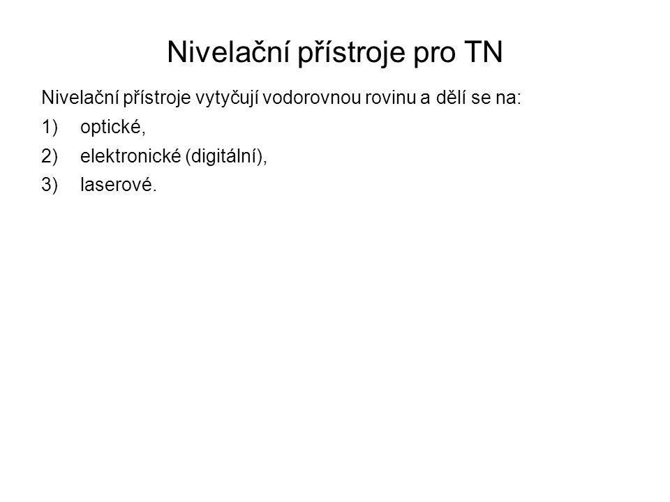 Nivelační přístroje pro TN
