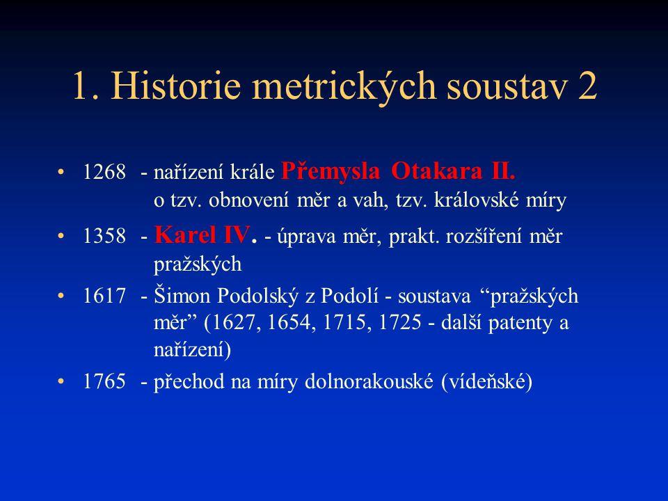 1. Historie metrických soustav 2