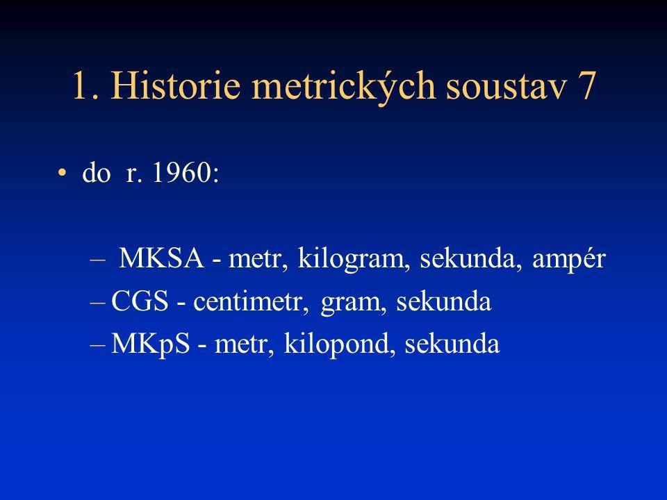 1. Historie metrických soustav 7