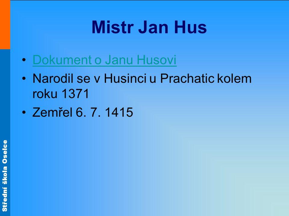 Mistr Jan Hus Dokument o Janu Husovi