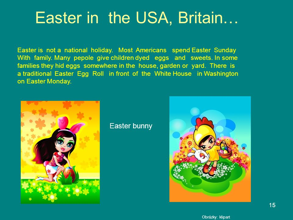 Easter in the USA, Britain…
