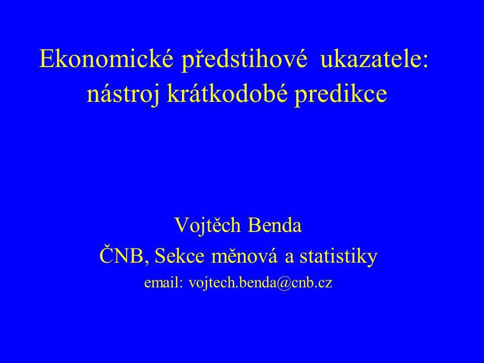 Ekonomické předstihové ukazatele: nástroj krátkodobé predikce
