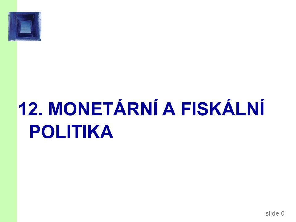 12.1. Monetární politika