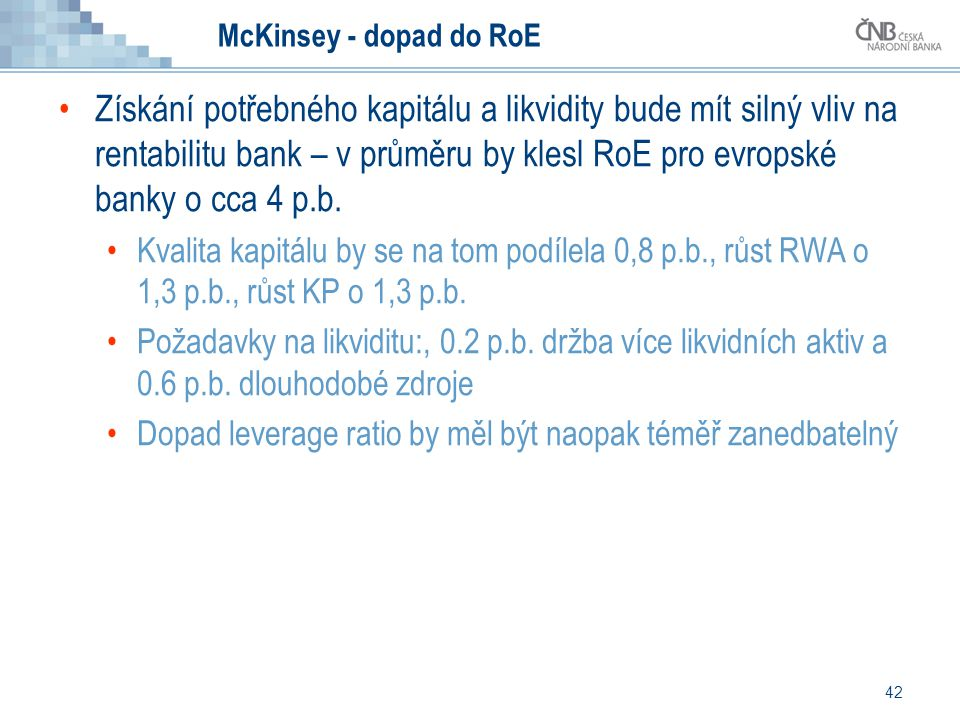 McKinsey - dopad do RoE