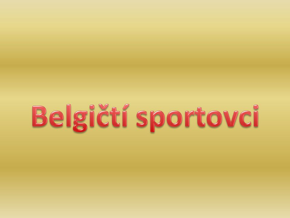 Belgičtí sportovci