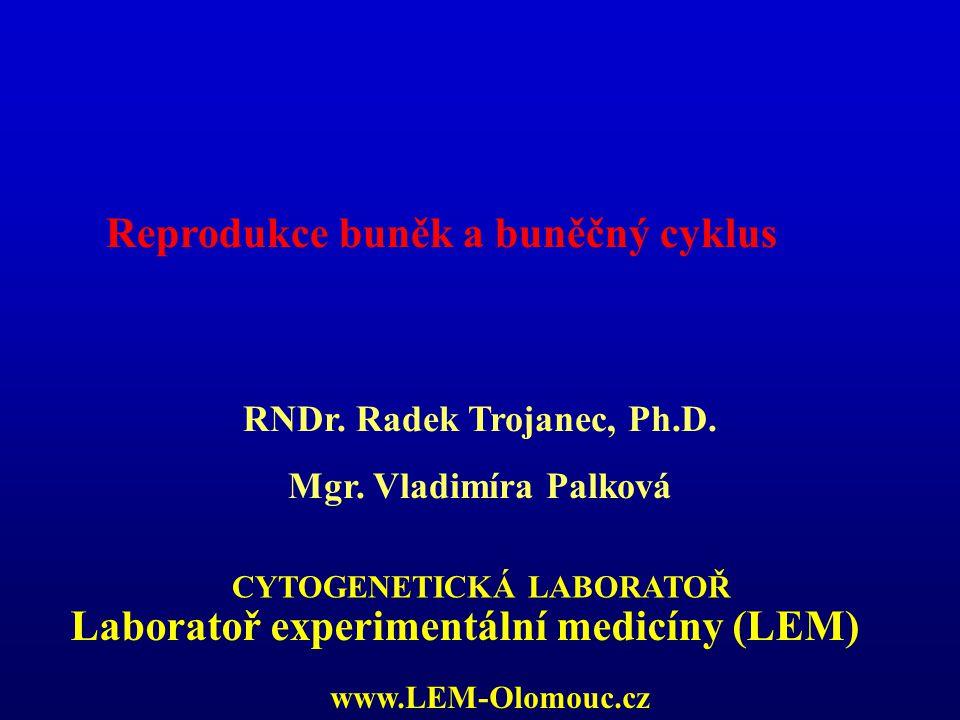 Reprodukce buněk a buněčný cyklus