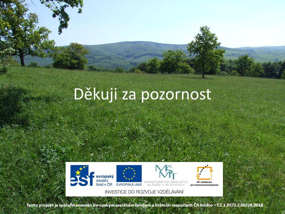 Děkuji za pozornost Tento projekt je spolufinancován Evropským sociálním fondem a Státním rozpočtem ČR InoBio – CZ.1.07/2.2.00/28.0018.