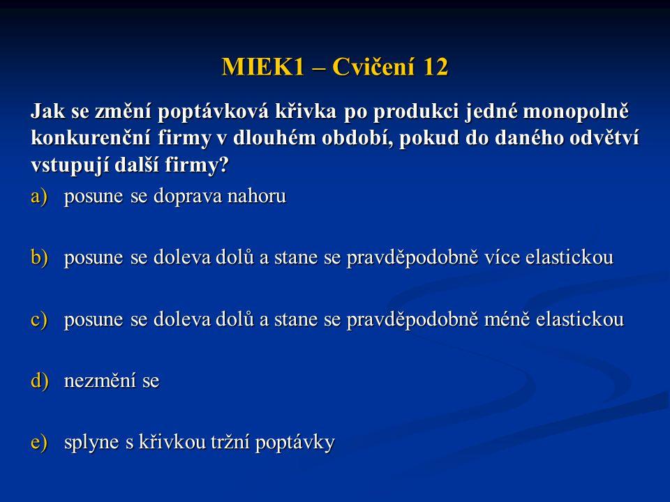 MIEK1 – Cvičení 12