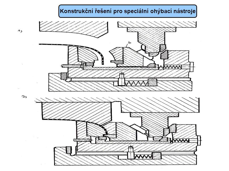 Konstrukční řešení pro speciální ohýbací nástroje
