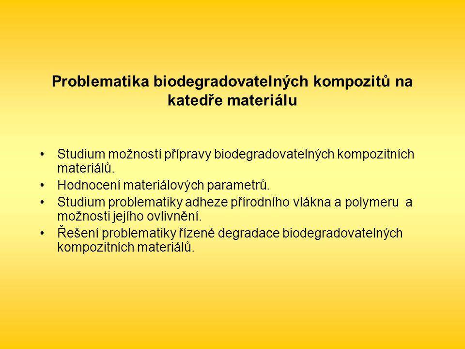 Problematika biodegradovatelných kompozitů na katedře materiálu