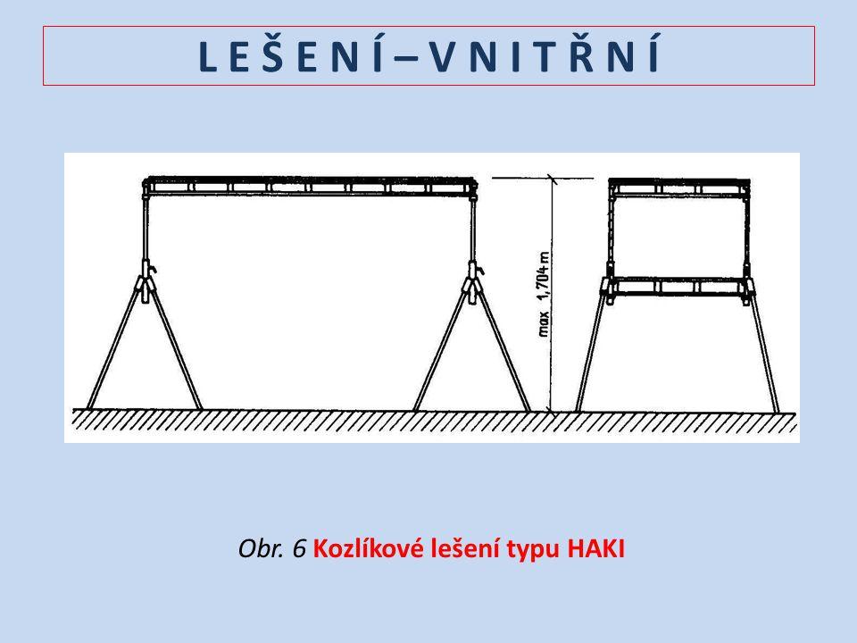 Obr. 6 Kozlíkové lešení typu HAKI