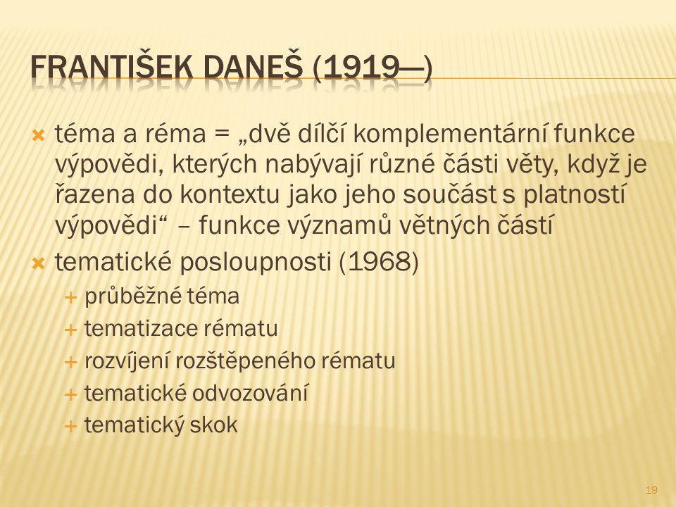 František daneš (1919—)