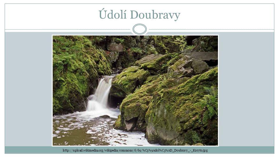 Údolí Doubravy http://upload.wikimedia.org/wikipedia/commons/6/69/%C3%9Adol%C3%AD_Doubravy_-_Koryto.jpg.