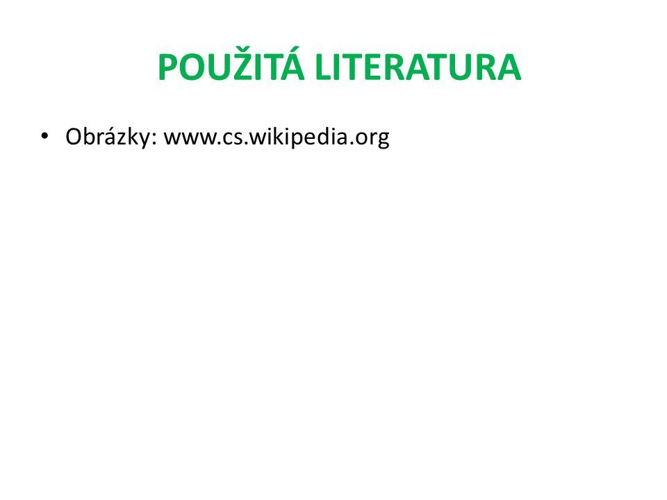 POUŽITÁ LITERATURA Obrázky: www.cs.wikipedia.org