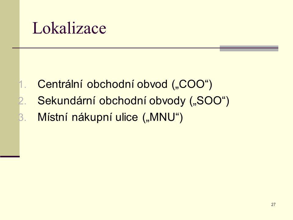 """Lokalizace Centrální obchodní obvod (""""COO )"""