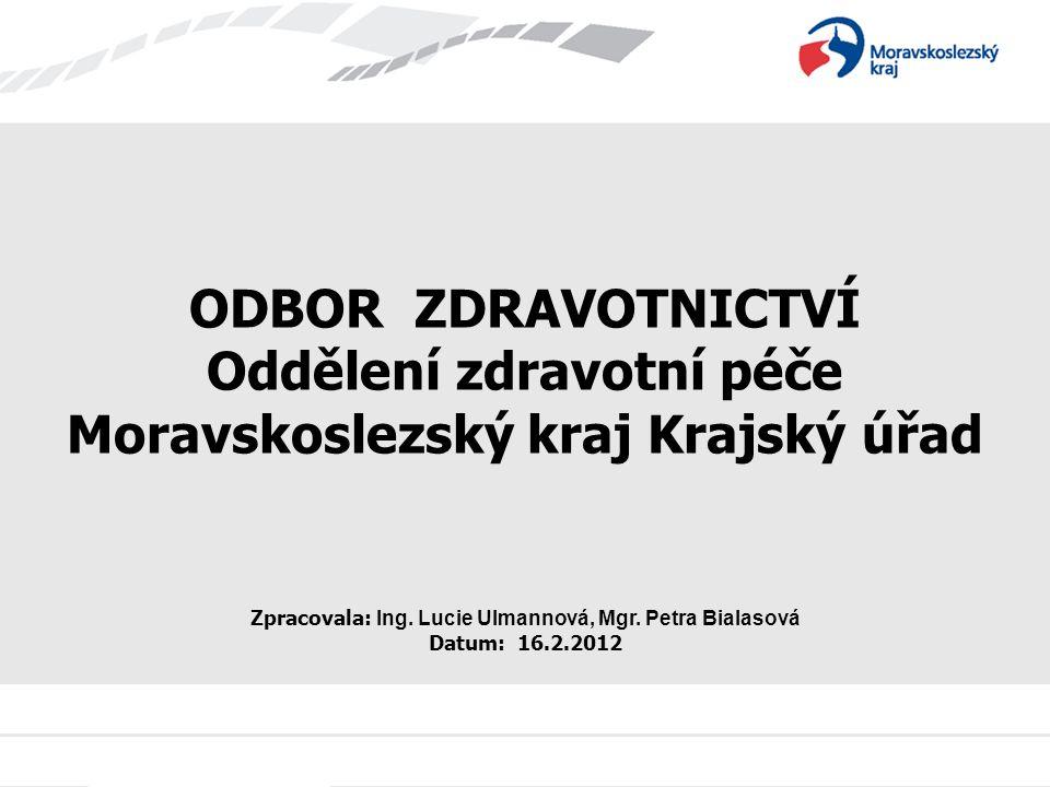 Oddělení zdravotní péče Moravskoslezský kraj Krajský úřad