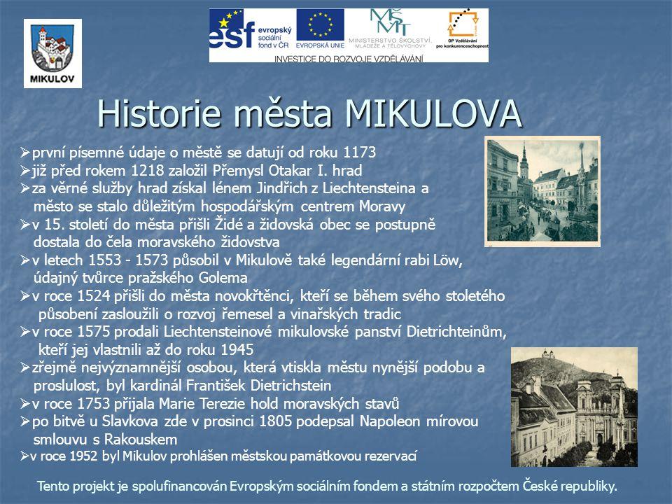 Historie města MIKULOVA