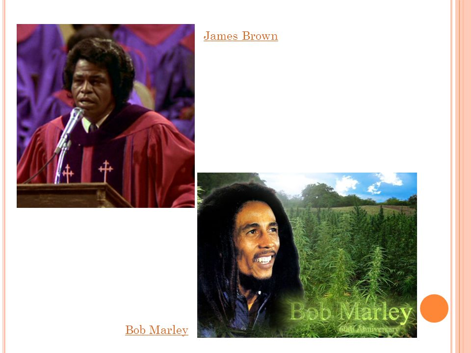 James Brown Bob Marley