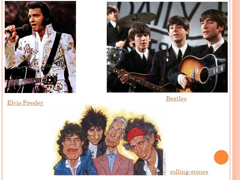 Beatles Elvis Presley rolling-stones