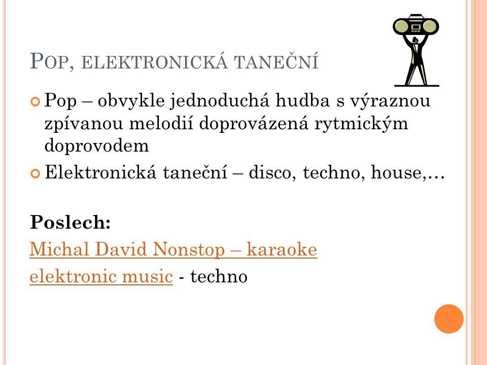 Pop, elektronická taneční