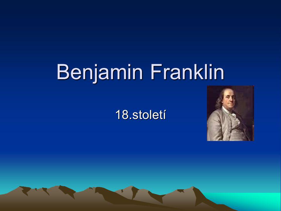 Benjamin Franklin 18.století