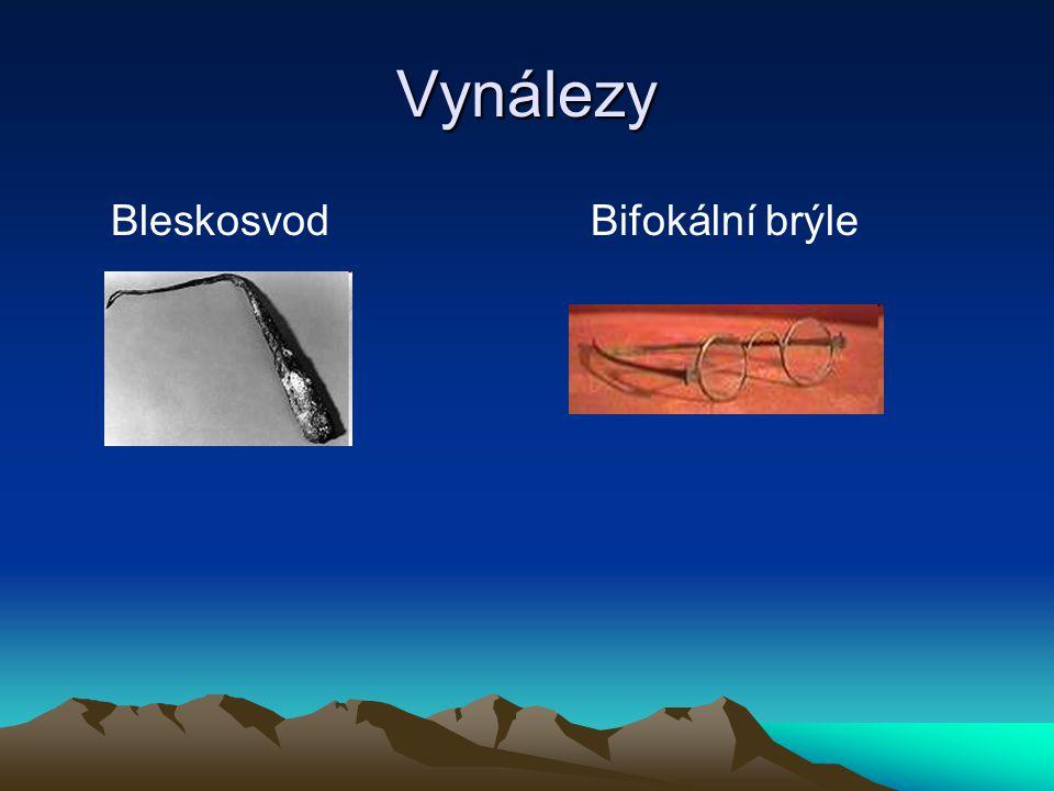 Vynálezy Bleskosvod Bifokální brýle