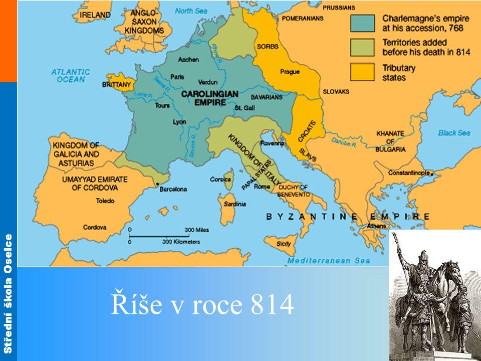 Říše v roce 814