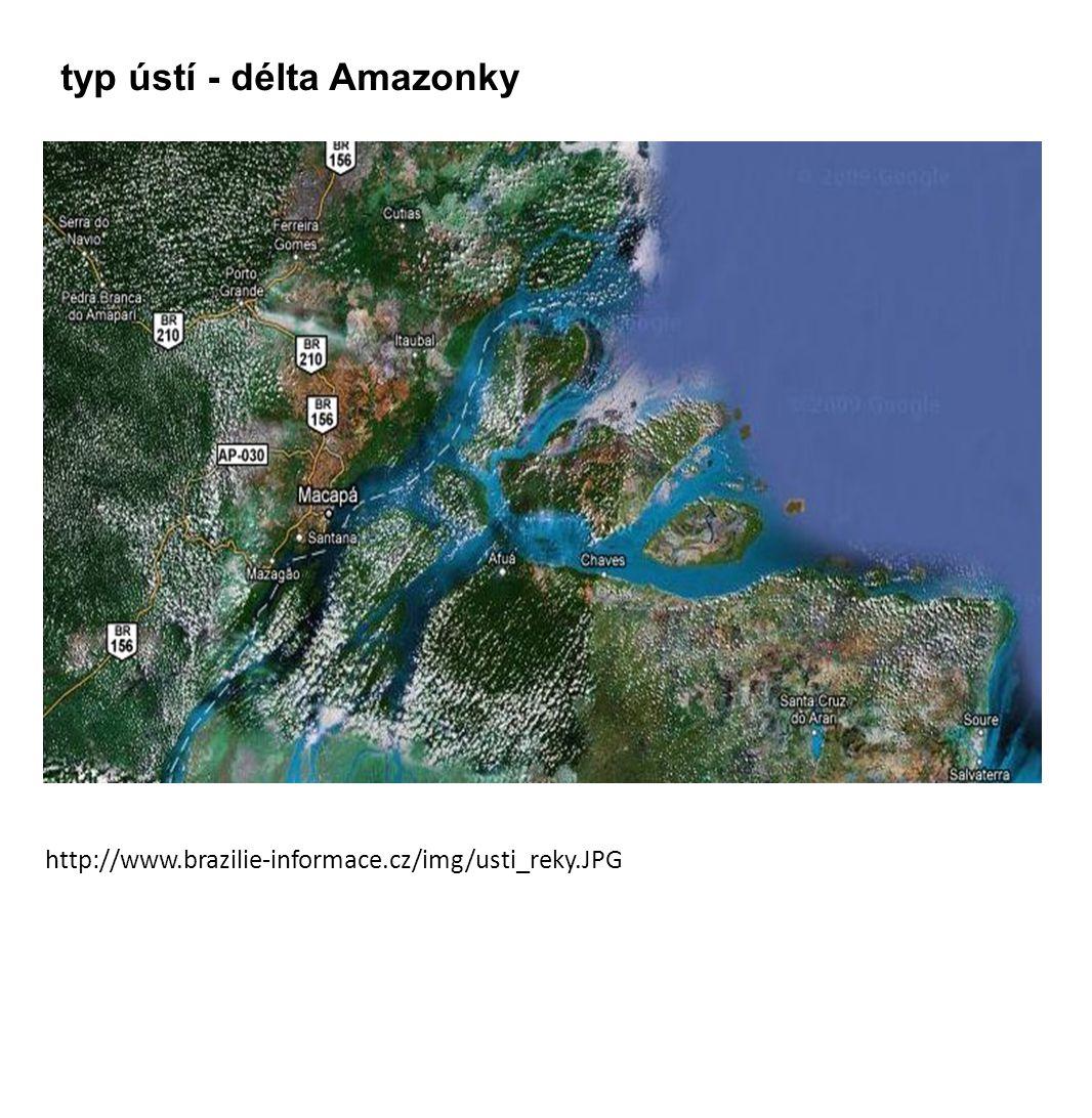 typ ústí - délta Amazonky