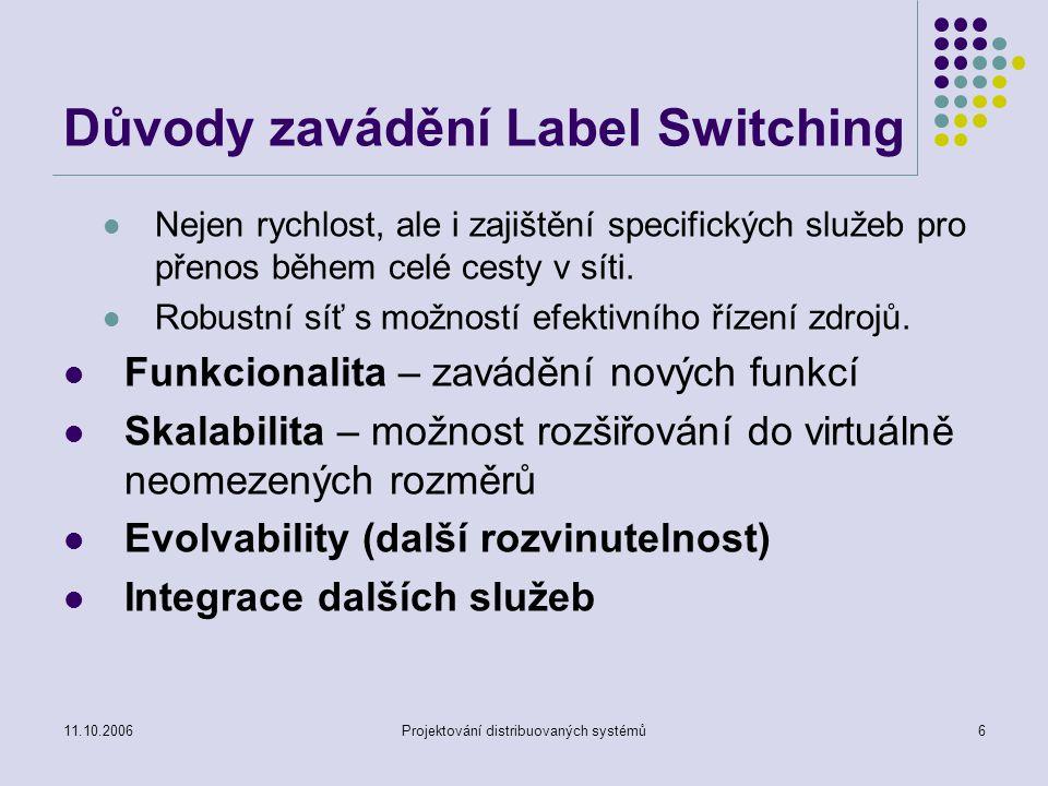 Důvody zavádění Label Switching
