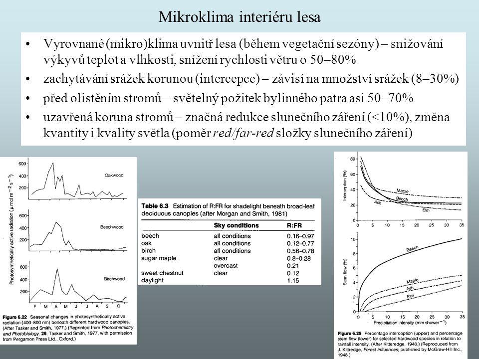 Mikroklima interiéru lesa