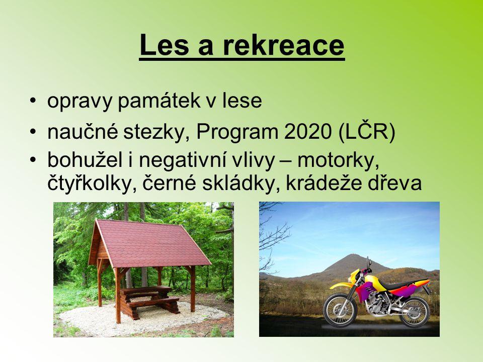 Les a rekreace opravy památek v lese naučné stezky, Program 2020 (LČR)