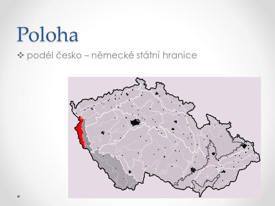 Poloha podél česko – německé státní hranice