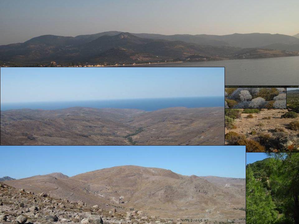 Ostrov Lesbos Rozloha: 1 630 km2 Počet obyvatel: 93 428 Nejvyšší bod: 968 m